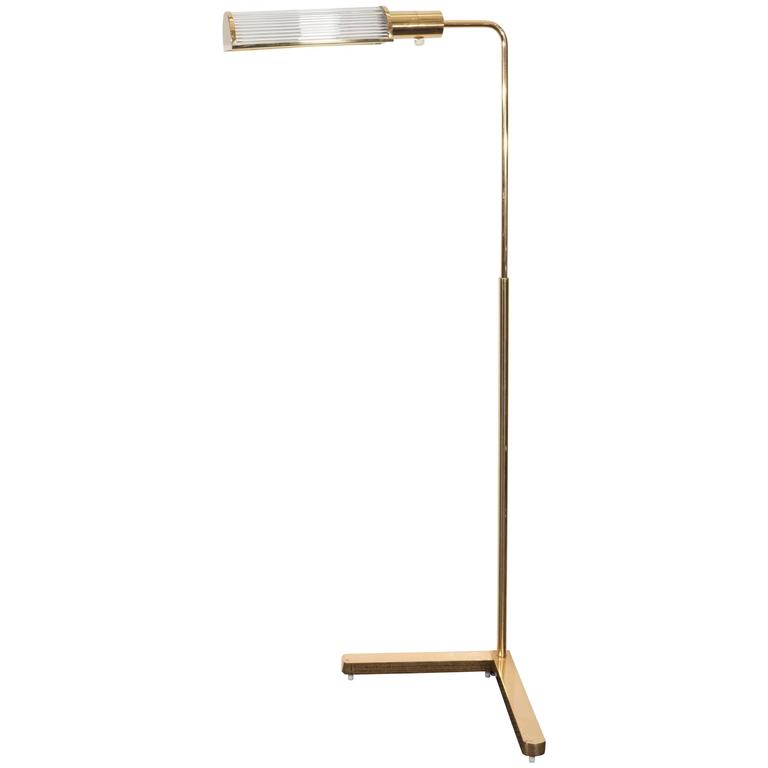 this casella brass pharmacy floor lamp with glass rod shade is no. Black Bedroom Furniture Sets. Home Design Ideas