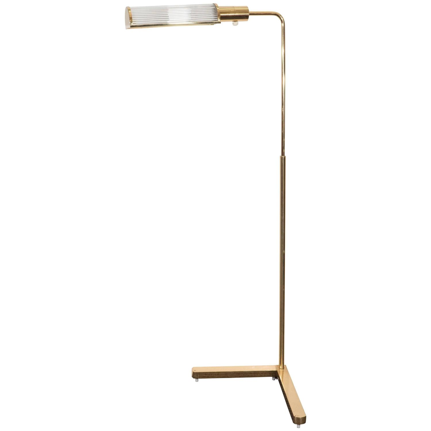 casella brass pharmacy floor lamp with glass rod shade at 1stdibs. Black Bedroom Furniture Sets. Home Design Ideas