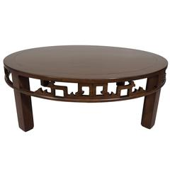 Baker Furniture Asian Inspired Round Coffee Table