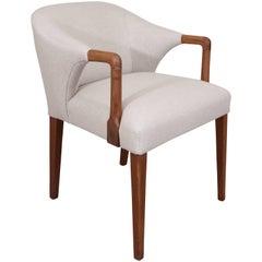 Danish Teak Armchair with Round Back