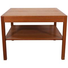 Hans J. Wegner Table with Lower Shelf, Manufactured by Andreas Tuck