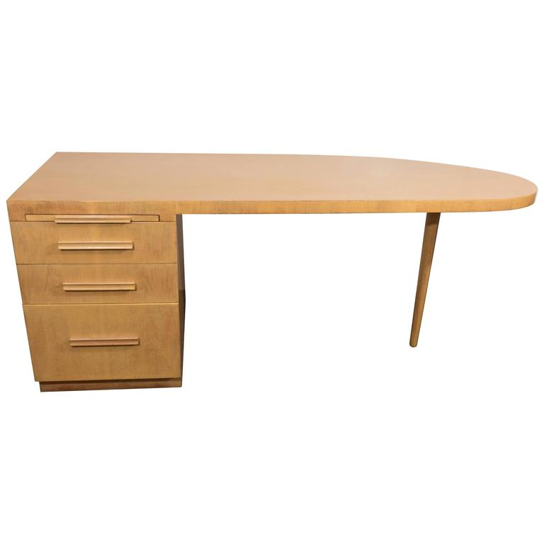 T.H. Robsjohn-Gibbings for Widdicomb Executive Desk in Birch