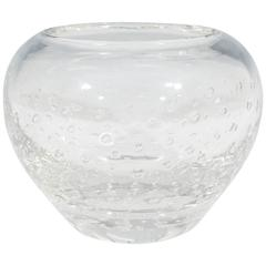 Swedish Glass Vase with Controlled Bubbles