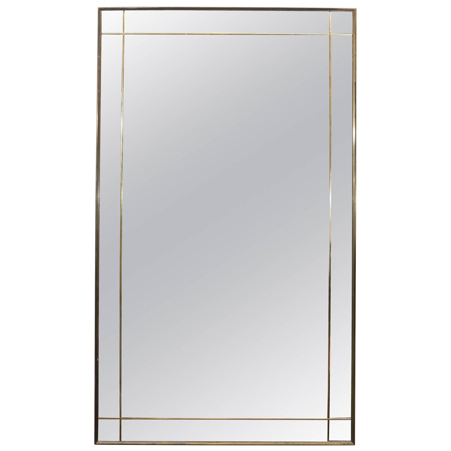 Art deco gilt beveled wall mirror at 1stdibs for Art mirrors for walls