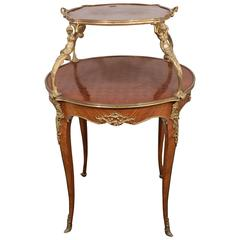 French Louis XV Style Two-Tier Etagere Table