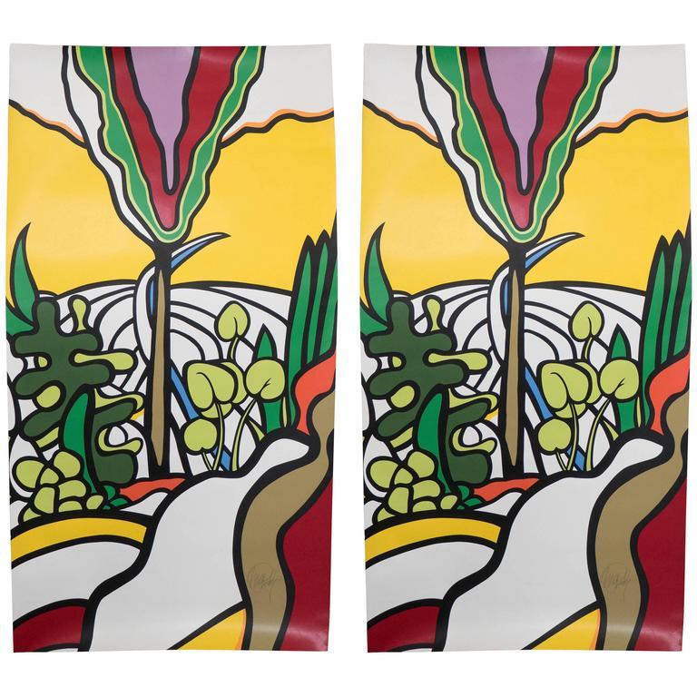 Pair of Pop Art Silkscreen Prints, Signed