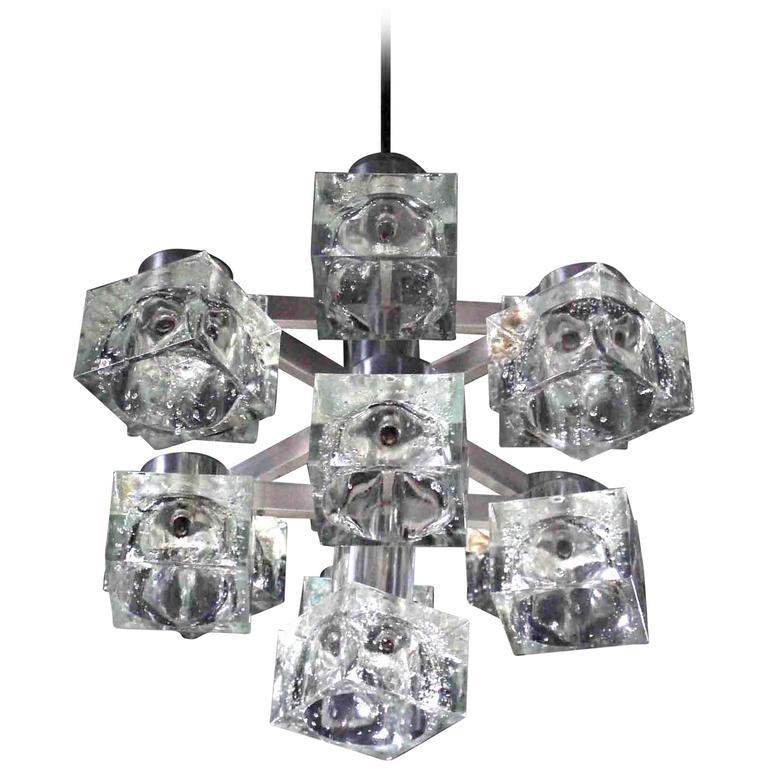 Nice Gaetano Sciolari Ice Cube Light Fixture