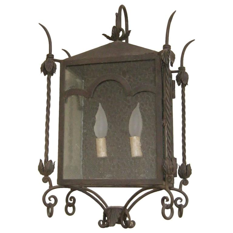 Exterior Iron Wall Mount  For Sale