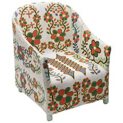 Stunning Beaded Chair,Nigeria,result of 1 year, working with 7 shades of colors