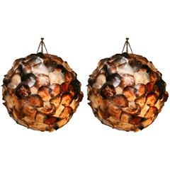 Pr/Shell Hanging Lanterns,Romantic,exotic Javanese ,Huge,spectacular,only one