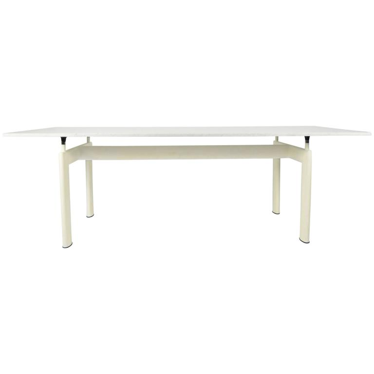 Attrayant Le Corbusier LC6 Table By Cassina With White Marble Top For Sale