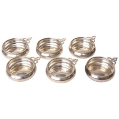 Set of Six (6) Tiffany Sterling Wine Tasters, Vintage and Classic Shape