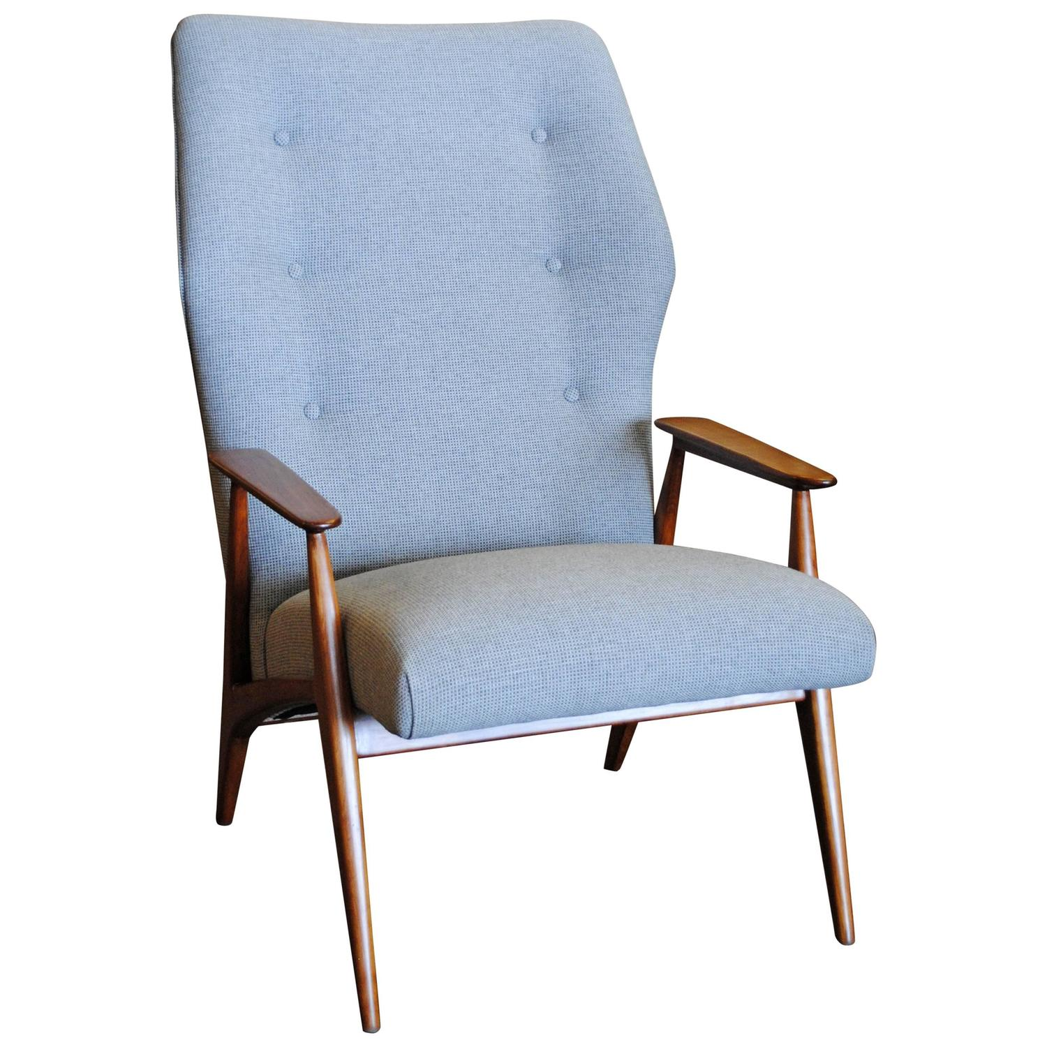 Danish Modern Wingback Lounge Chair For Sale At 1stdibs
