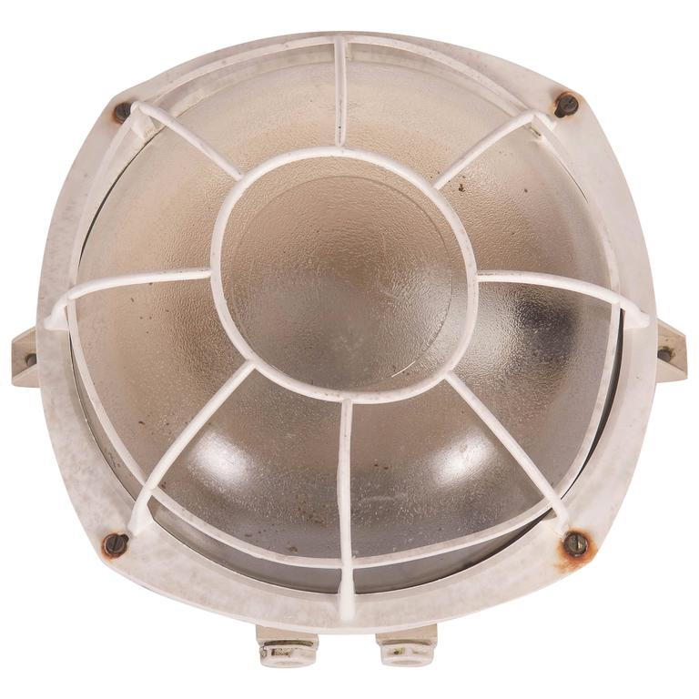 Wall or Ceiling Industrial Lamp from 1970s For Sale