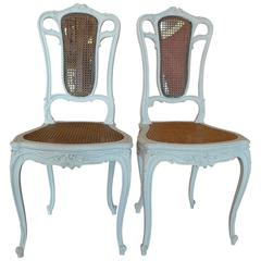French XIX Louis XVI with Cane Back and Seat
