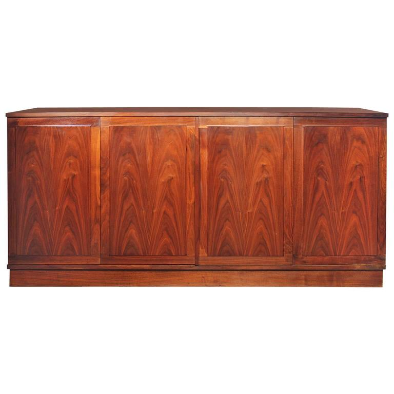 Honduran Rosewood Bookmatched Cabinet By Jack Cartwright For Founders  Furniture 1