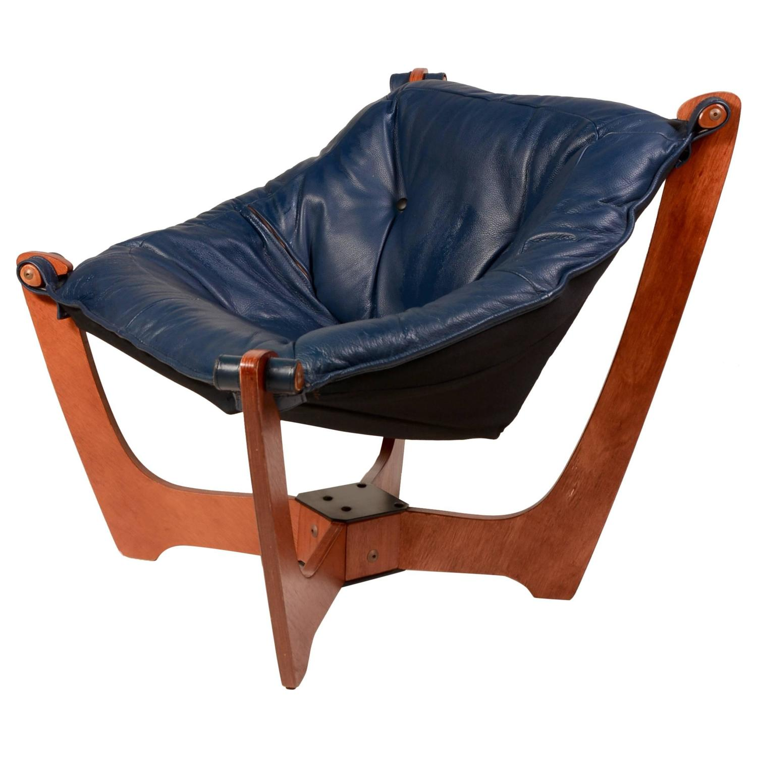 Luna Chair Odd Knutsen In Blue At 1stdibs