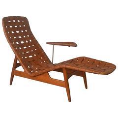 Rare Sculptural Chaise Lounge by Arne Vodder, Denmark, 1950s