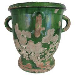 19th Century French Emerald Green Urn