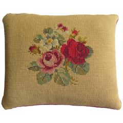 Late 19th Century Pillow or Cushion Needlepoint tapestry Art-Nouveau Design