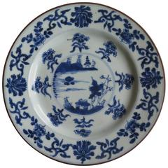 """Qing, """"Kangxi"""" Period, Chinese Plate, Blue and White Porcelain, circa 1700"""