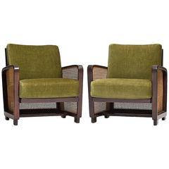 Woven Rattan Chairs and Small Sofa