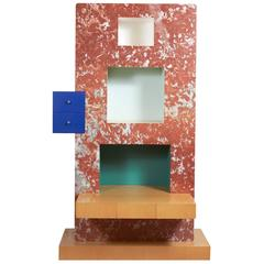 """Bookcase """"Two Blue Drawers"""" by Ettore Sottsass"""