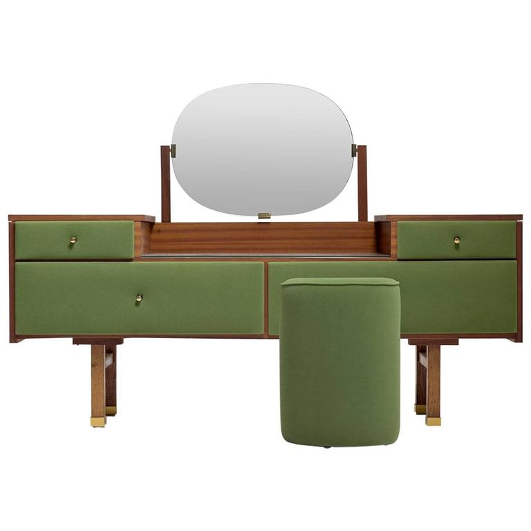 Roger Landault Green Vanity And Chair Modernist France