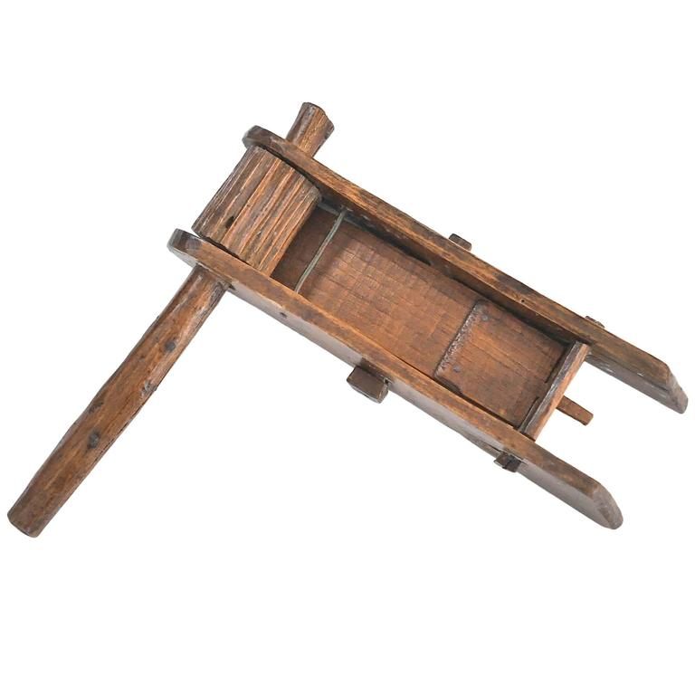 19th Century Wooden Rattle 1