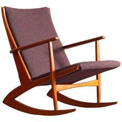 Rare Danish Teakwood Holger George Jensen Rocking Chair