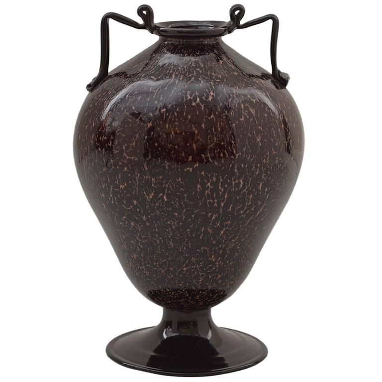 1920s Murano Glass Vase By Fratelli Toso At 1stdibs