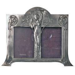 Rare W.M.F Art Nouveau Double Photograph Frame, Germany, circa 1900