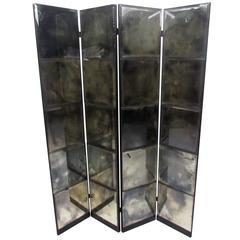 Unique Mid-Century Mirrored Room Divider