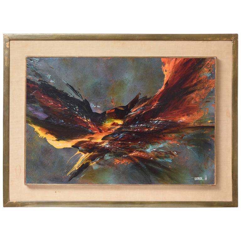 Bird Fury Painting by Leonardo Nierman, circa 1966