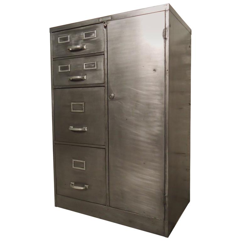 industrial metal cabinet industrial metal file cabinet at 1stdibs 17835