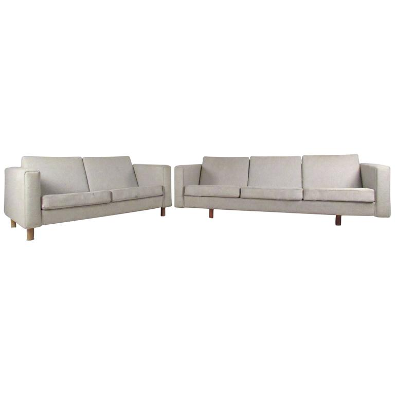 Matching Mid Century Modern Sofa And Loveseat By Hans Wegner For Sale At 1stdibs