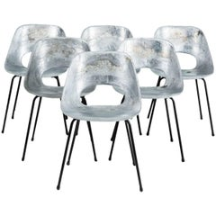 """Tonneau"" Cast Aluminum Chairs by Pierre Guariche"