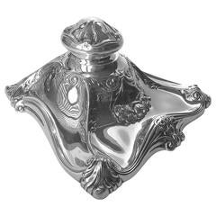 American Sterling Silver Art Nouveau Inkwell Boston Silver Co., circa 1900