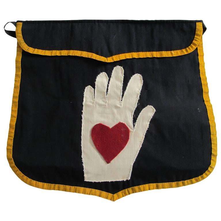 Heart in Hand Fraternal Lodge Apron