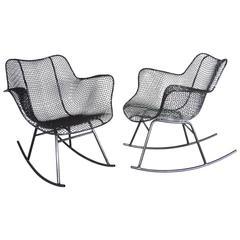 Pair of Woodard Wrought Iron Rocking Chairs