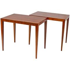 Pair of Brazilian Rosewood Side Tables by Severin Hansen