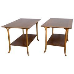 Pair of Walnut Robsjohn Gibbings Widdicomb Side Tables