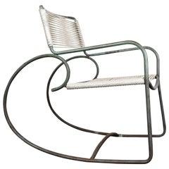 Walter Lamb Bronze Rocking Chair, Model C-5701