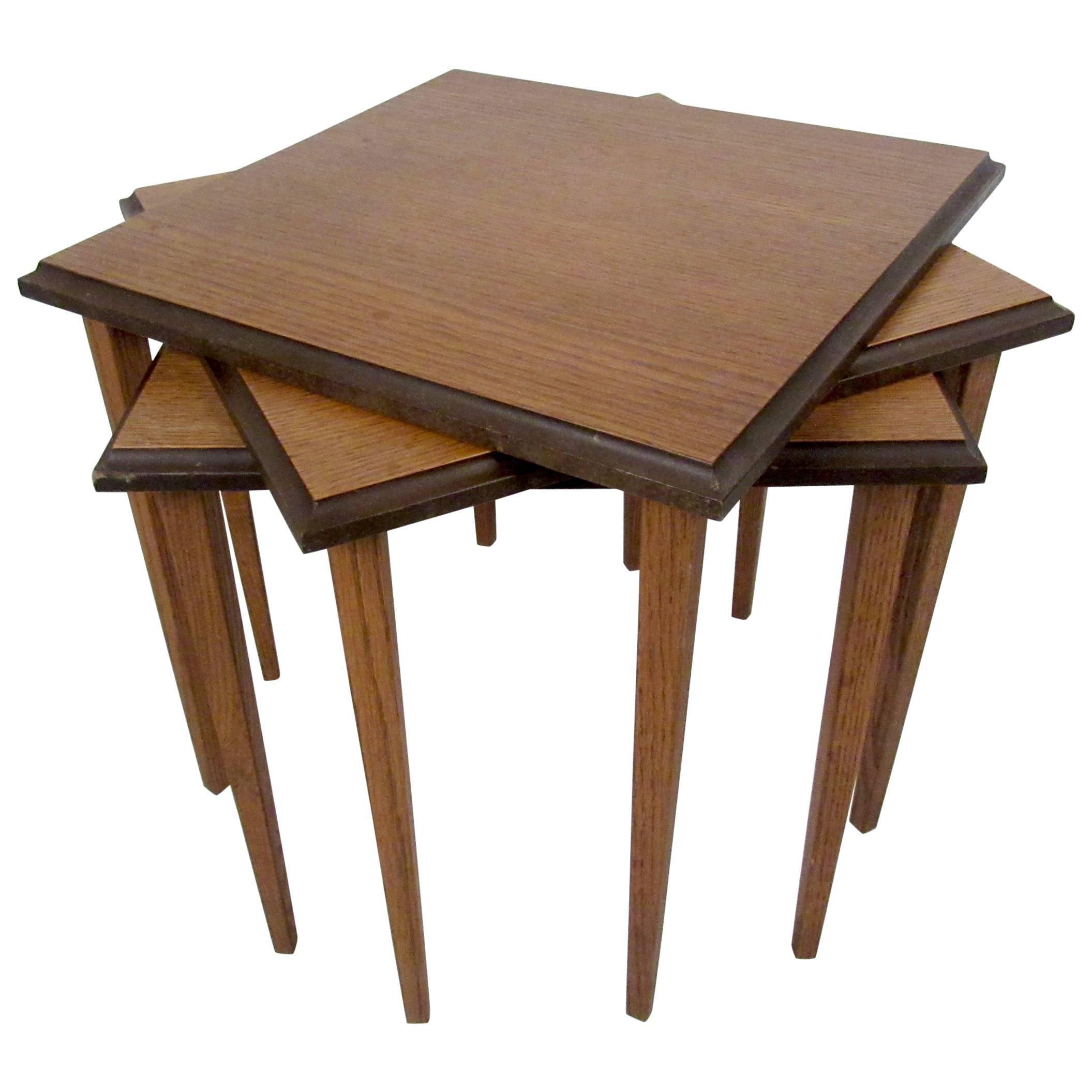 Sleek Mid-Century Nesting Tables