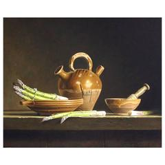 Asparagus and Jar from Dordogne by Stefaan Eyckmans
