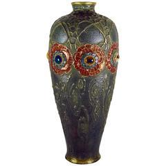 Amphora Gres Bijou Dornenkrone Vase by Riessner, Stellmacher & Kessel, 1904-05