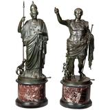 Pair of Bronze Statues of Minerva and Augustus, Attributed to B Boschetti