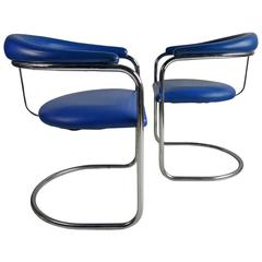 Pair of Anton Lorenz Chairs for Thonet  Model SS33