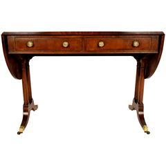 1900s Mahogany English Drop Sofa Table