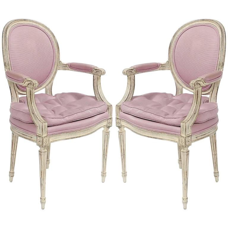 Incredible Pair of 1960s Louis XVI Style Armchairs